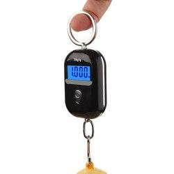 Новинка, электронные мини-весы с крючком для багажа, максимальный вес 25 кг