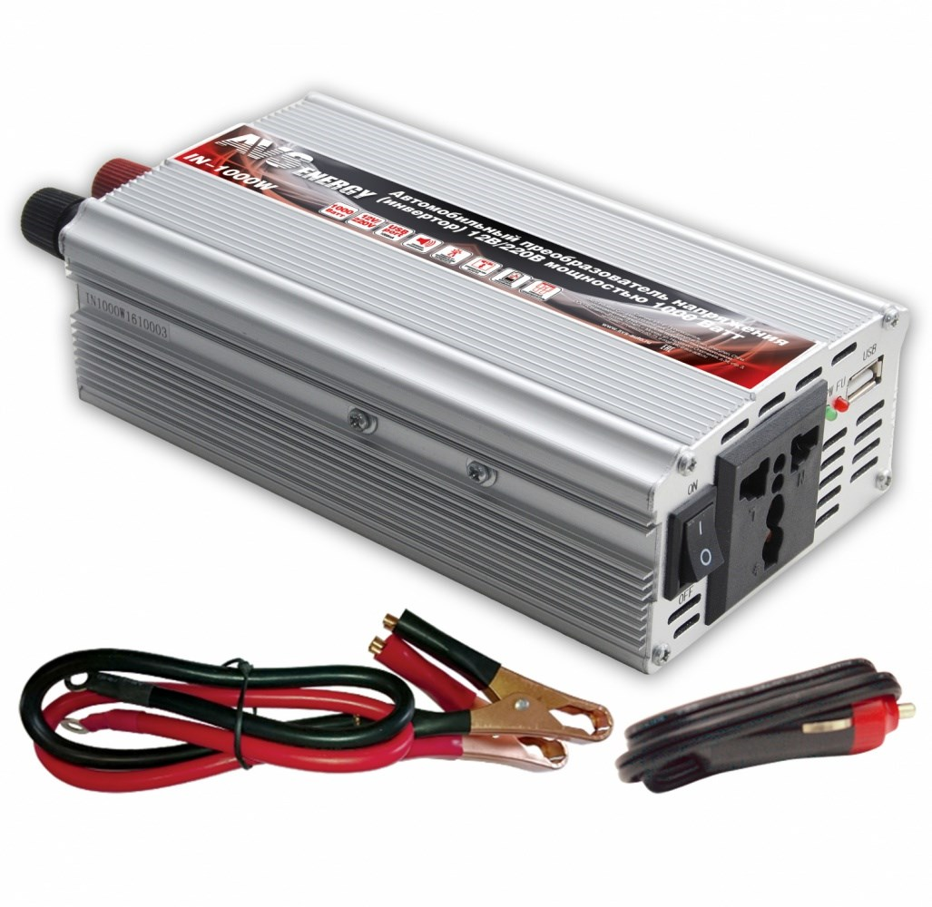 Car Inverter 12 V/220 V AVS IN-1000W