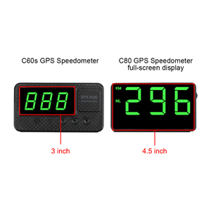 Image 3 - Car Head Up Display C60s/C80 Odometer KM/h MPH Car styling Big Fonts LED Display Car GPS Speedometer Altitude Display Projector