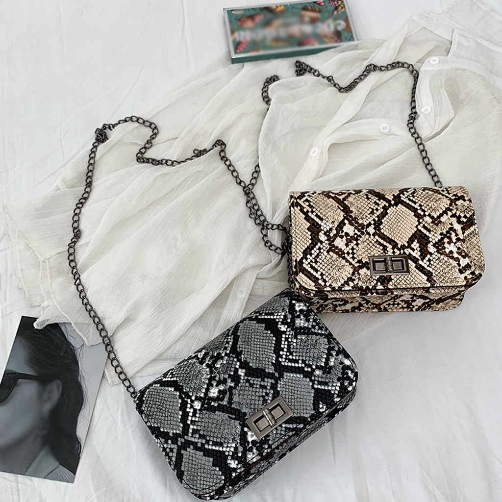 25#luxury handbags women bags designer Serpentine Small Square Crossbody Bags Wild Girls Snake Print Shoulder Messenger Bag