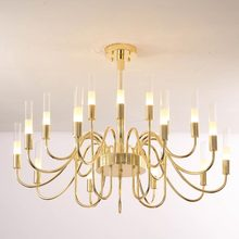 Chandeliers Modern Lighting Glass-Lamp Bedroom Fixtures Kitchen-Iron Gold Led Living-Room