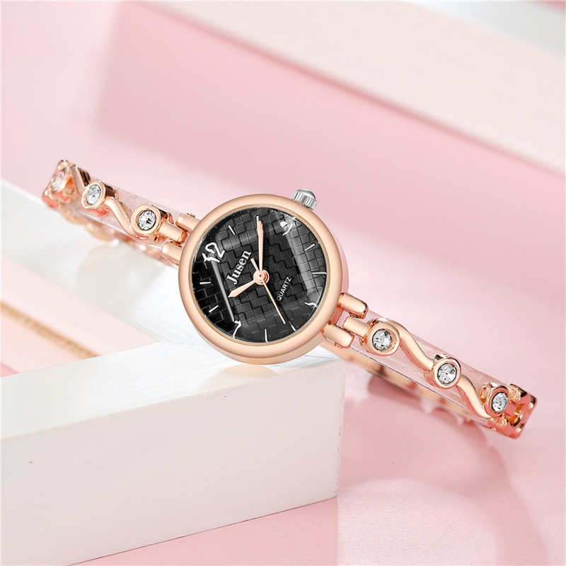 Wave Pattern Dial Design Women Fashion Luxury Watches Elegant Small Ladies Bracelet Wristwatches Rose Gold Female Quartz Watch