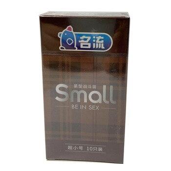 MingLiu Small Tight Condoms Dots Ribbed G-spot Stimulation Penis Sleeve Super Thin Condones Male Contraception pengelley contraception 16mm film