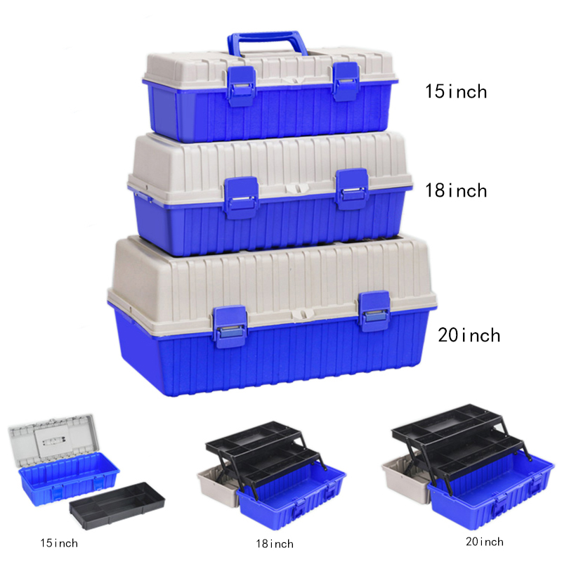 Three Layer Plastic Toolbox Storage Box Hardware Tool Box Home Tool Container Case Car Repair Box