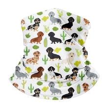 Labrador Retriever Dogs Pattern Women Snood Scarf Anti Dust UV Unisex Outdoor Magic Headband Elastic Bandana Chiffon Hijab