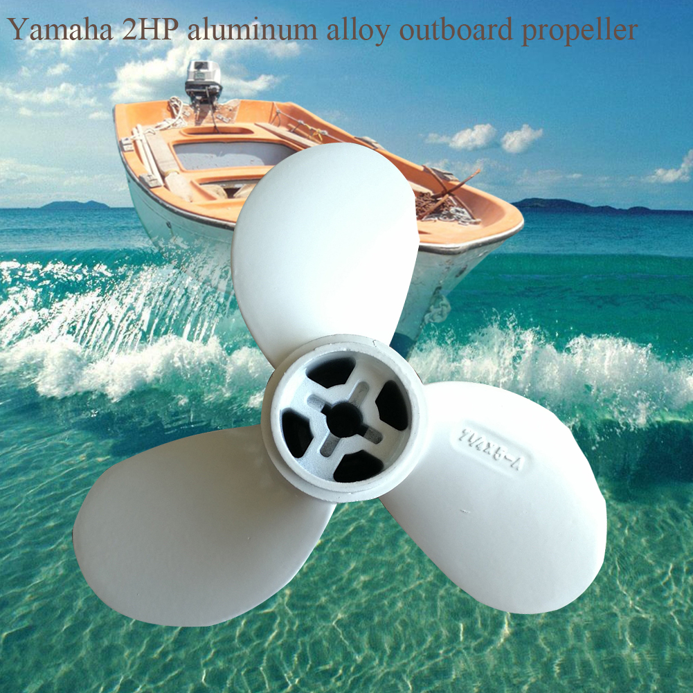 2HP 7 1/4 X 5 A Motor Parts Boat Propeller Replacement Outboard Easy Install Ship Practical Marine Aluminium Alloy For Yamaha