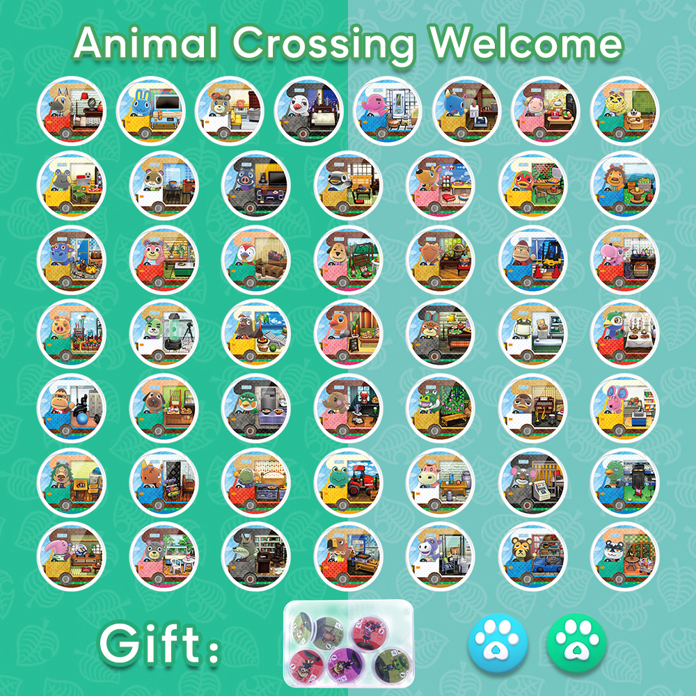 18Pcs 50Pcs Mod-X Nfc Card For Nintend Switch 3DS Animal Crossing Amiibo Card Animal Crossing Welcome Series Figuras Amiibo NCF