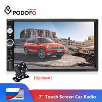 "Podofo 2 Din Auto Audio 7 ""HD Touch Screen BT Auto autoradio MP5 Player Multimedia Radio Unterhaltung USB/ TF FM Aux Eingang Kamera"