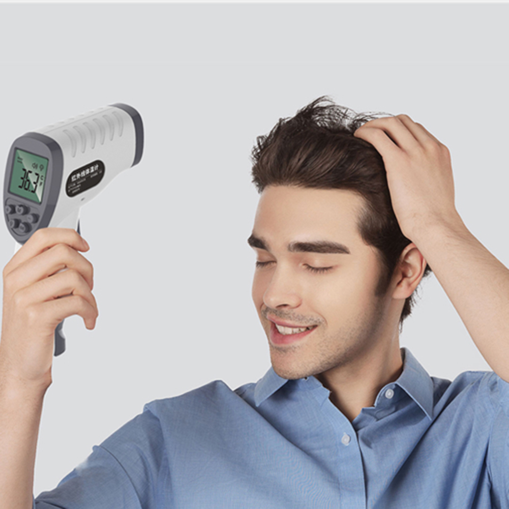 Digital LCD Baby Body Forehead Ear Thermometer Gun Non-contact Infrared Thermometer Home Outdoor Portable Temperature Meter New