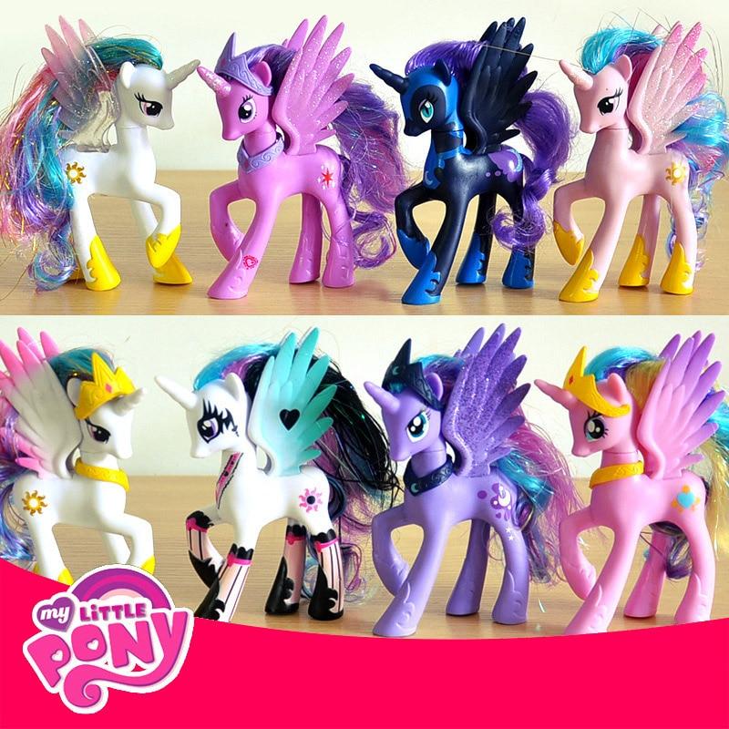 14 см мой маленький пони милые ПВХ Единорог ПВХ маленький ponis лошадь игрушки Фигурки Куклы для девочек на день рождения, подарок на Новый год