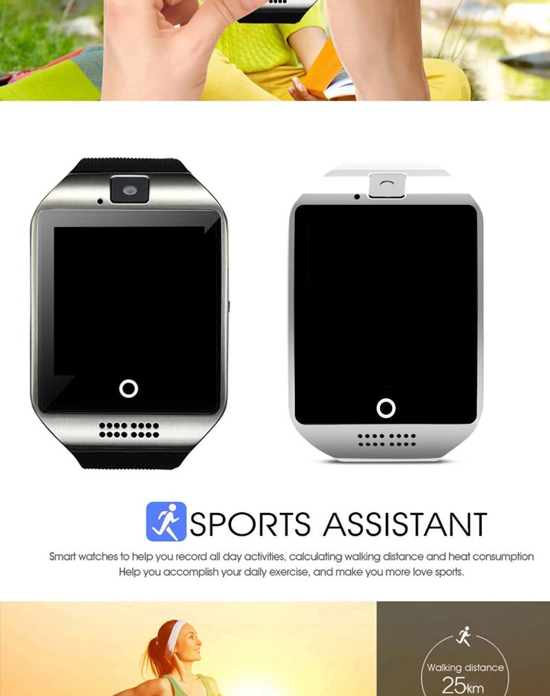 H684cba856be74c1499b22fffb0156ed4E Q18 Digital Touch Smart Watch With Sim Call Bluetooth Call Square Smartwatch Fit Watch Sport Pedometer Whatsapp Bracelet