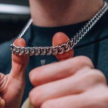 Kubański LINK 3 do 7 MM naszyjnik ze stali nierdzewnej dla mężczyzn biżuteria CHOKER tanie tanio mprainbow STAINLESS STEEL Mężczyźni Wisiorki CN (pochodzenie) TRENDY łańcuszek NASZYJNIKI Metal ROUND Zgodna ze wszystkimi