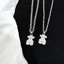 Hip Hop Necklace Female Bear Pendant Girl Necklace Student Small Jewelry Thick Chain Pendant Necklace