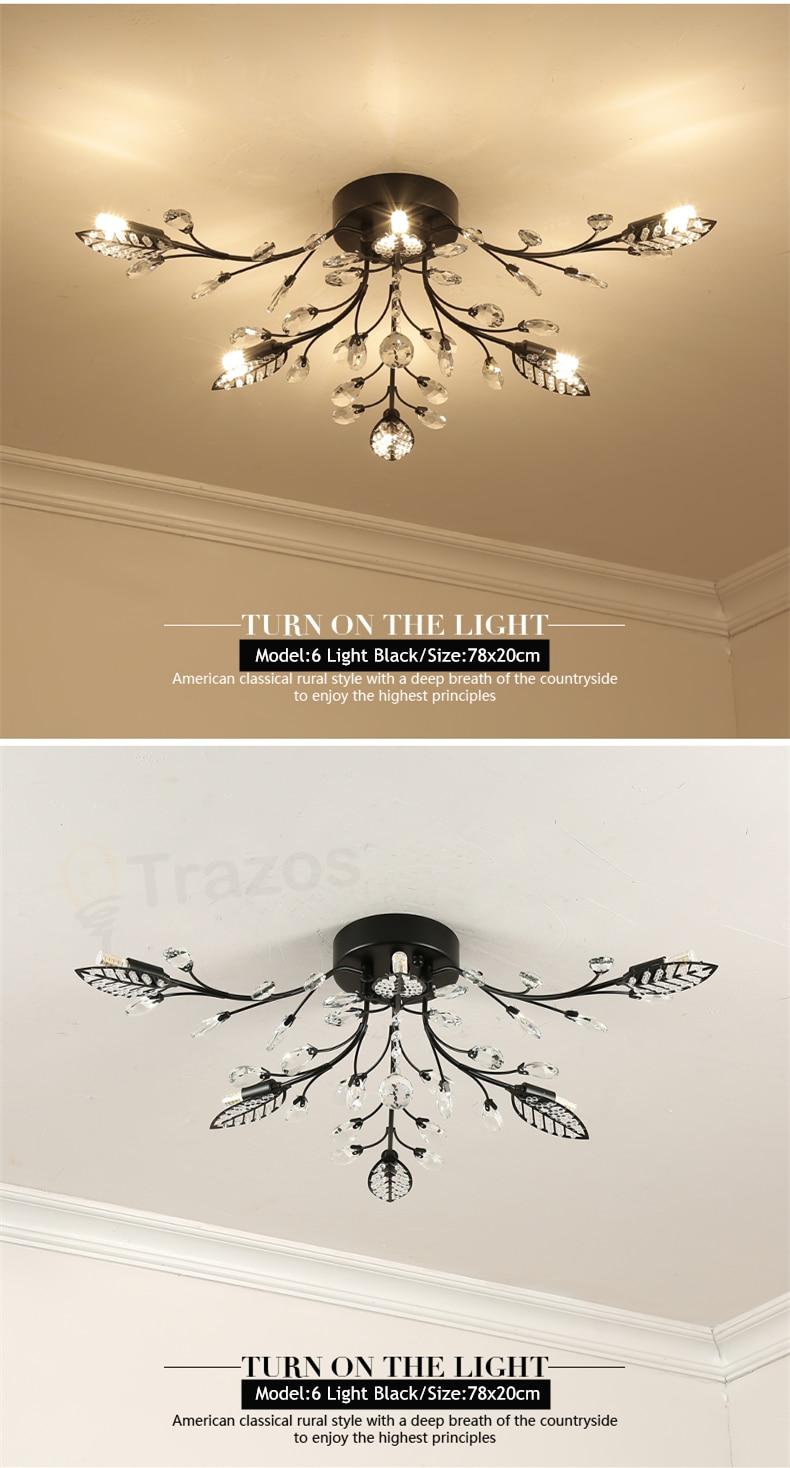 H684ce79394b24d26a5247efe9e2107c17 TRAZOS New item fancy ceiling light LED Crystal ceiling lamp modern lamps for living room lights,AC110-240V DIY Crystal lighting