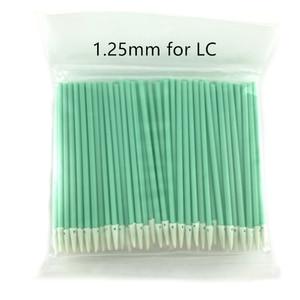 Волоконно-оптические чистящие палочки волоконно-оптические тампоны для 1,25 мм/2,5 мм LC/SC/FC/ST коннекторов/адаптеров, 100 шт. чистящих стержней