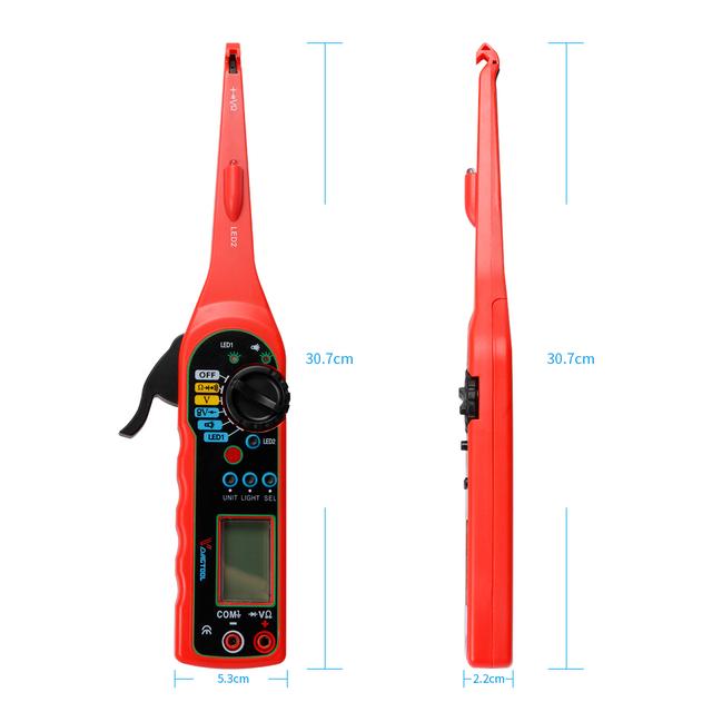 MS8211 Multimeters Analyzers MS8211 Digital Multimeter ACV/DCV Electric Handheld Tester0-380V with Lamp for Car Diagnotic Repair