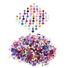 5Pcs/lot Lip Ball Acrylic Labret Bar Rings Stud Cartilage Ear Piercing Body Jewelry