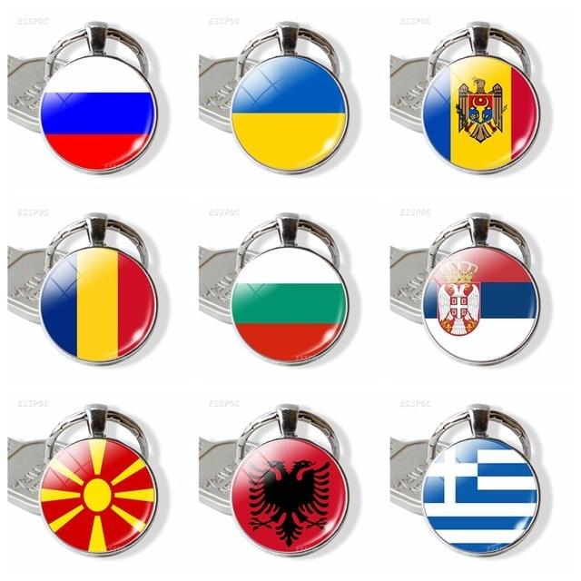 Фото европейский флаг кольцо для ключей оптовая продажа великобритания