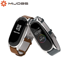 Leather Bracelet For Xiaomi Mi Band 5 Strap NFC Global for Mi Band 4 Wrist Correa In Smart Wristband Pulseira Mi Band 3 Strap