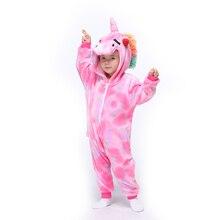 Детские кигурумис животное Пегас Детская одежда Мальчики Девочки Единорог малыш ползунок комбинезон Детская Карнавальная одежда цельный костюм