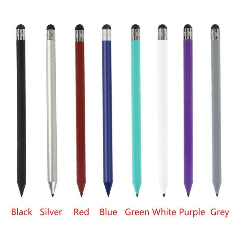 Caneta capacitiva de ponta fina para tablet, caneta retrô redonda com touch screen para ipad iphone, acessórios para tablet