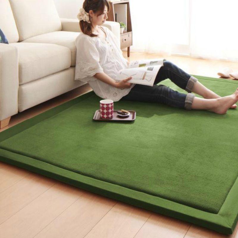 2CM d'épaisseur en peluche velours doux tapis zone tapis antidérapant tapis de sol pour salon chambre décoration de la maison fournitures
