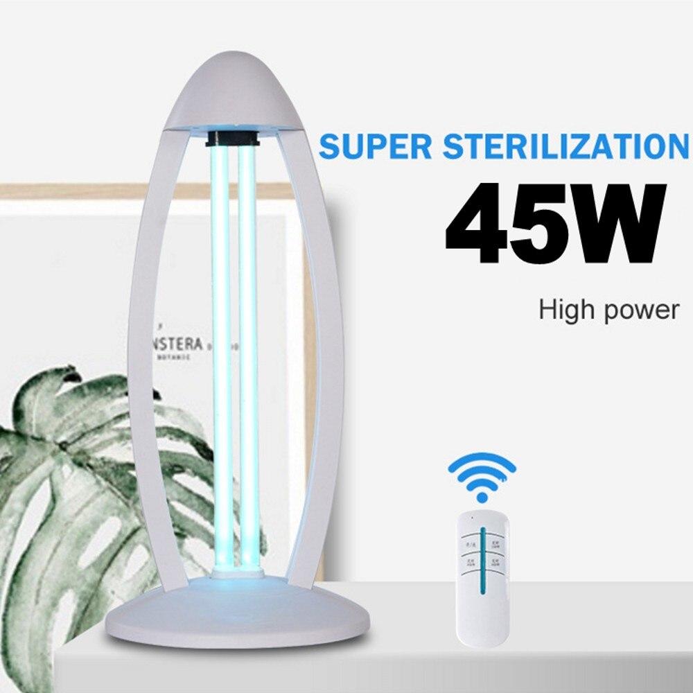 Rechargeable UV Sterilizer 45W Lamp Air Purifier 220V Ultraviolet Ozone Germicidal Light For Home School Hotel Desktop Light