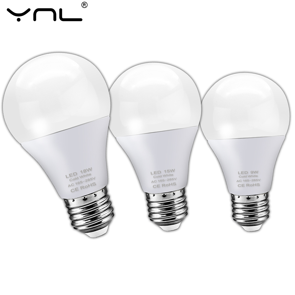 E27 LED Bulb Lamp 3W 6W 9W 12W 15W 18W AC 220V 240V Lampada LED Lamp Spotlight Table Bombillas Cold Warm White
