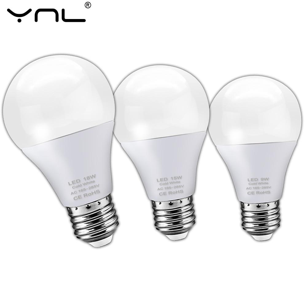 E27 LED Bulb Lamp 3W 6W 9W 12W 15W 18W AC 220V 240V Lampada LED Lamp Spotlight Table Bombillas Cold Warm White