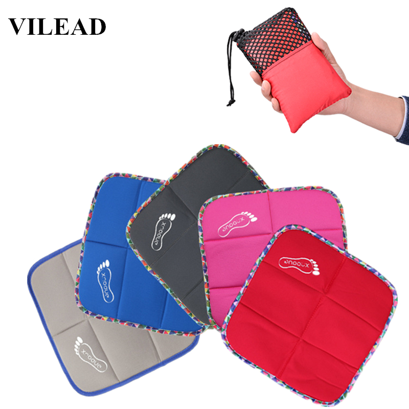 VILEAD Ethnic Style Travel Outdoor Sitting Mat Cushion Portable Thick Ultralight Mini Pad Folding Park Picnic Beach Camping Mat