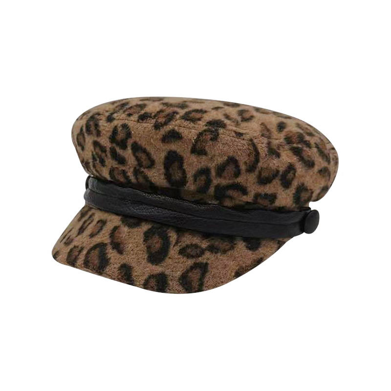Women Leopard Print Beret Female Flat Flat Cap Hats For Women Newsboy Cap British Style Beret  Spring Autumn Style