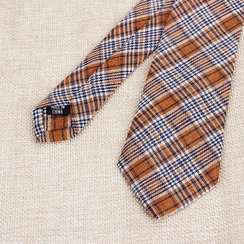 Mens Black Red Tartan Classic Casual Tie Necktie