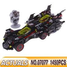 цена на 07077 The Ultimate Batmobile LEGOING Movie City set Batman Compatible 70917 Model Building Kit Stacking Block Kids DIY Toy Gift