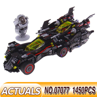07077 The Ultimate Batmobile LEGOING Movie City set Batman Compatible 70917 Model Building Kit Stacking Block Kids DIY Toy Gift