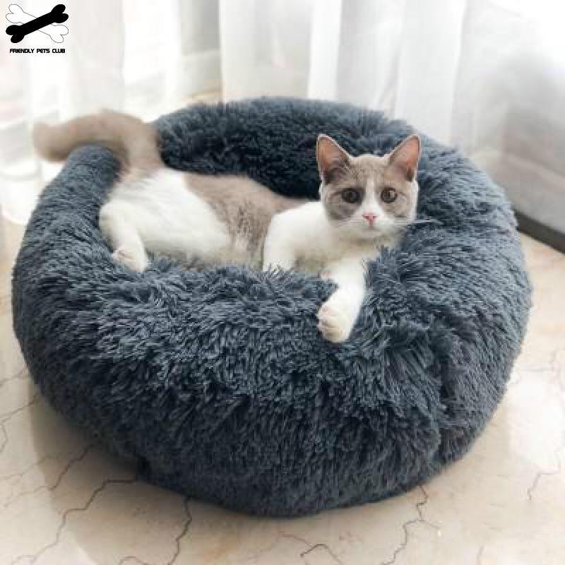 Haustier Hund Bett Komfortable Donut Cuddler Runde Hundehütte Ultra Weiche Waschbar Hund und Katze Kissen Bett Winter Warme Sofa heißer sell2810