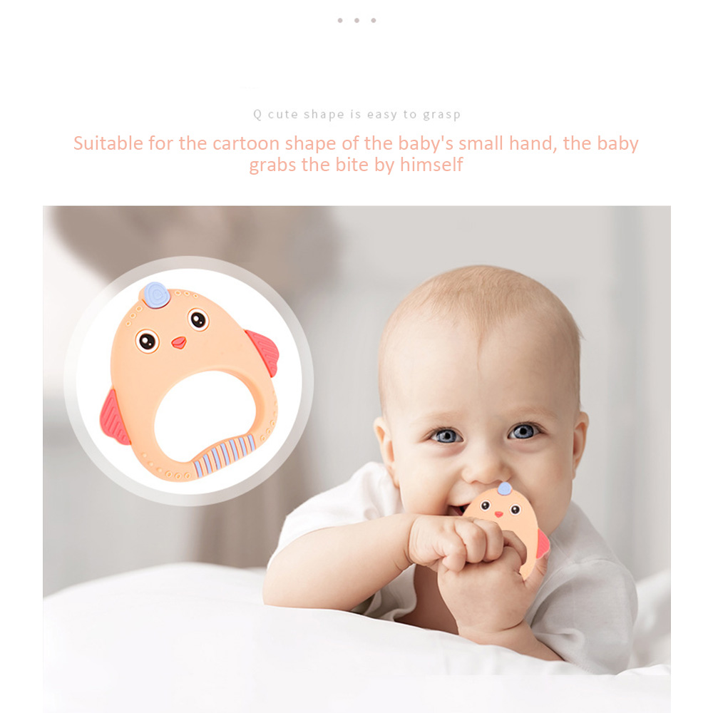 Lovely Silicone Molar Rod Toothbrush Teether Teething Newborn Toddler Toy Y
