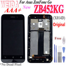 Original 4.5'' LCD for Asus ZenFone Go ZB452KG X014D LCD Display Touch Screen Digitizer Assembly with Frame For ZB452KG lcd Tool(China)
