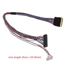 I-PEX 20453-040t-11 40pin 2ch 6bit lvds cabo para 10.1-18.4 polegada led lcd painel