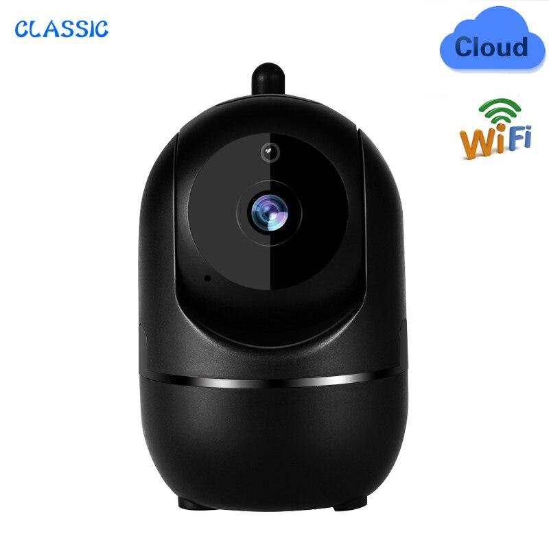 1080P Wireless IP Camera Cloud Wifi Camera Smart Auto Tracking Human Home Security Surveillance CCTV Network indoor black IP