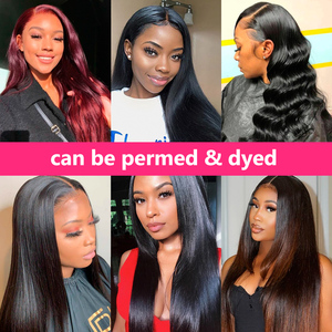 Image 2 - 5x5 Lace Closure Wig Brazilian Straight Lace Front Human Hair Wigs for Black Women 6x6 Closure Wig Remy Hair Gabrielle