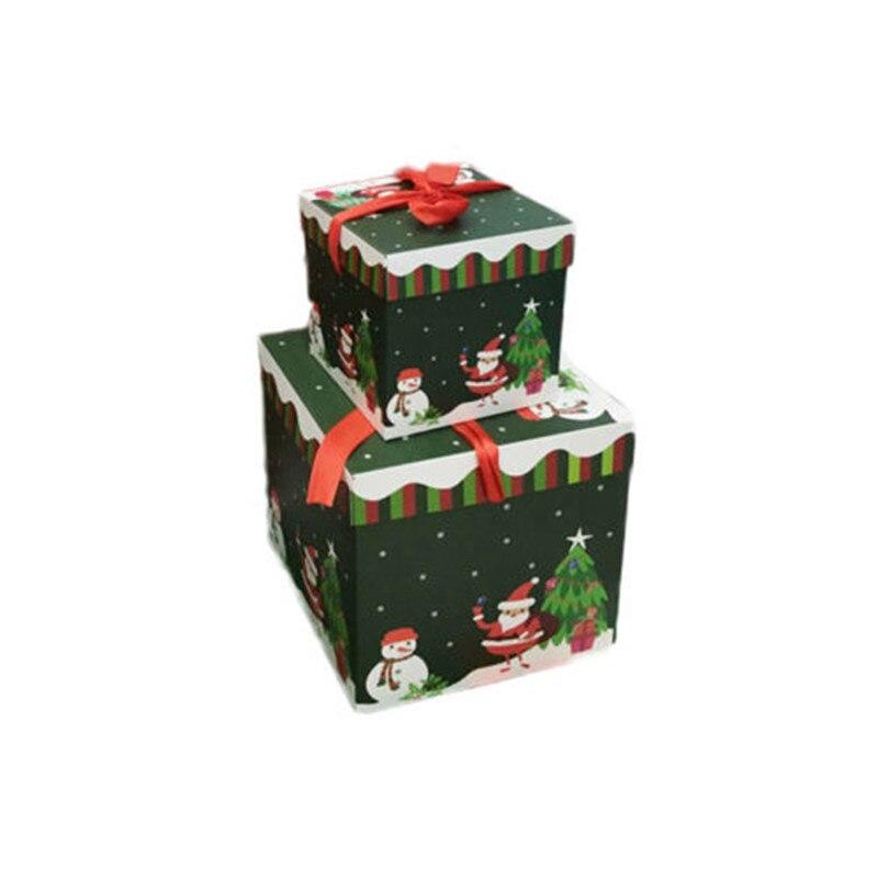 Christmas Eve Treats Xmas Gift Box Made By Elves Elf Father Christmas Santa Case Party Ornament Gift Decor