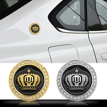 1PCS Car styling 3D Metal Crown logo Car Badge Rear Emblem Sticker For Mobile