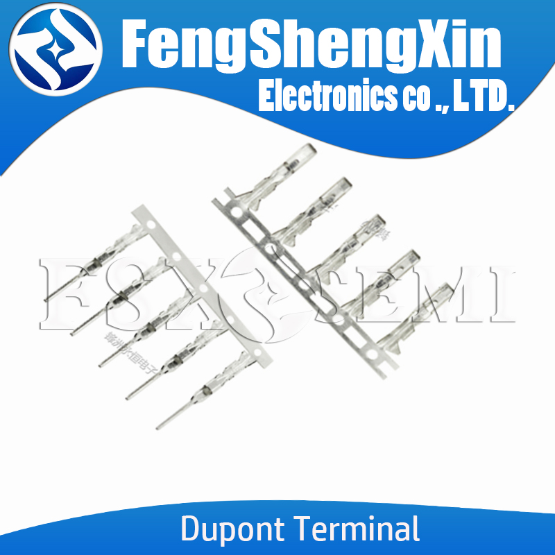 Dupont Terminal 2.54mm For Half Gold Plated Dupont Connector Need Tinniness Copper Metal Terminal Female Or Male Pin
