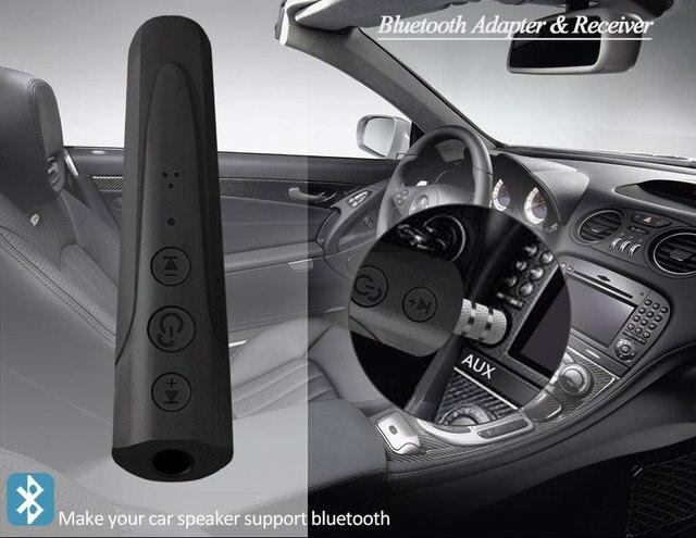 بلوتوث 4.2 استقبال الصوت سيارة عدة 3.5 مللي متر جاك AUX بلوتوث الموسيقى البث يدوي استقبال اكسسوارات السيارات