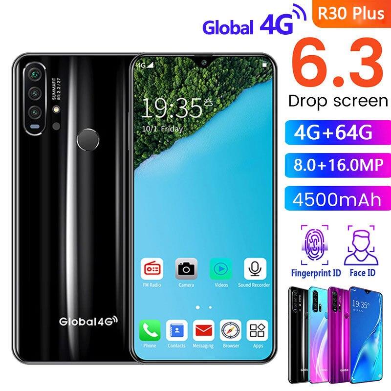 SOYES Mt6592m/W/T R30 Plus Mobile-Phones 64GB 4gbb Octa Core Face Recognition/fingerprint Recognition