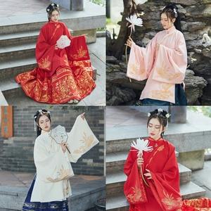Новинка 2020, китайские сказочные женские танцевальные костюмы Hanfu, древнее народное платье для танцев, свадебное платье с вышивкой, 2 предмет...