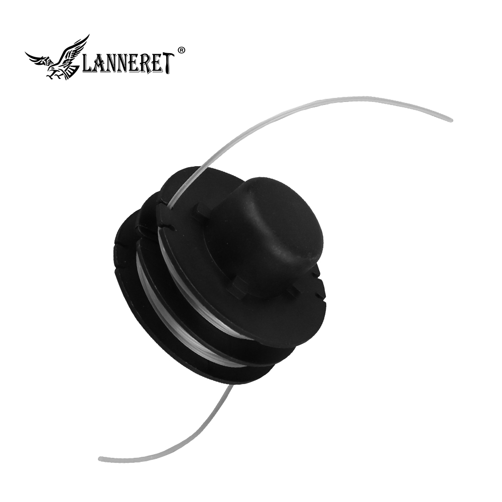 LANNERET GTH1.201 Dia.1.2mm Length 6m Universal Nylon Brush Mower Bump Spool Grass Trimmer Head W/1.2mm Cut White Rope