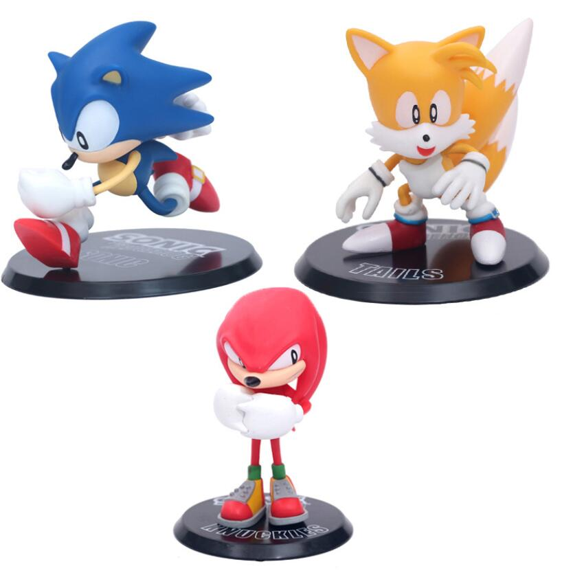 3pcs Set Super Sonic Action Figure Toys Knuckles Tail Hedgehog Sonic Model Doll Plastic Toys Action Toy Figures Aliexpress