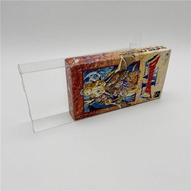Caixa de exibição coleção e caixa de armazenamento caixa de proteção para super famicom sfc jogo
