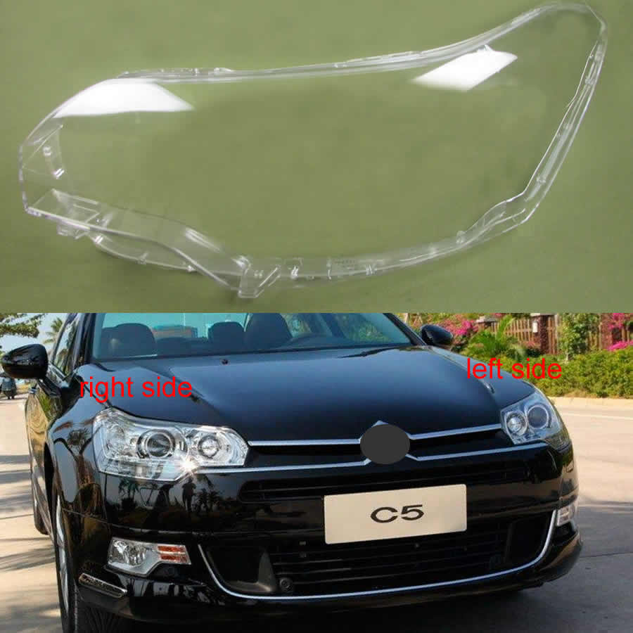 For Citroen C5 2010 2011 2012 2013 2014 2015 2016 Headlight Transparent Cover Lampshade Headlamp Cover Shell Lens Glass